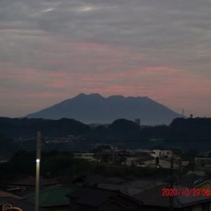 2020年10月29日、朝の桜島