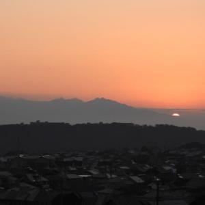 2020年11月25日、朝の桜島