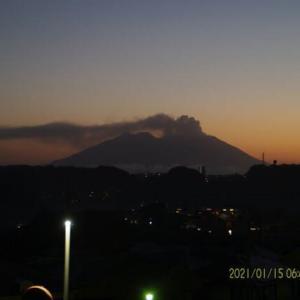 2021年01月15日、朝の桜島