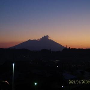 2021年01月20日、朝の桜島