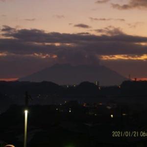 2021年01月21日、朝の桜島