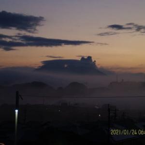 2021年01月24日、朝の桜島