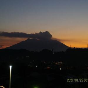 2021年01月25日、朝の桜島