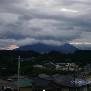 2021年06月17日 朝の桜島