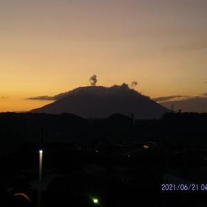 2021年06月21日 朝の桜島