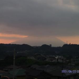2021年06月22日 朝の桜島