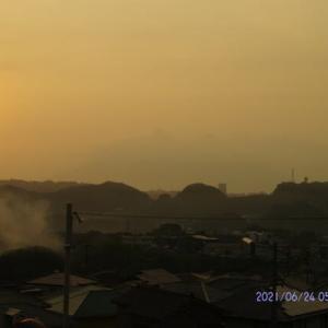 2021年06月24日 朝の桜島