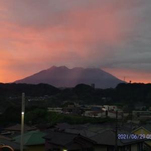 2021年06月29日 朝の桜島