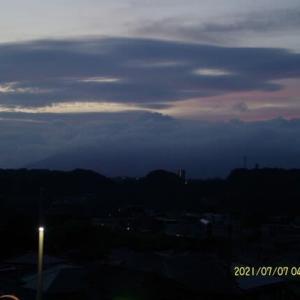 2021年07月07日 朝の桜島