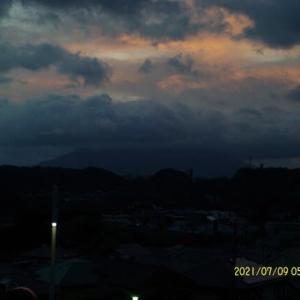 2021年07月09日 朝の桜島