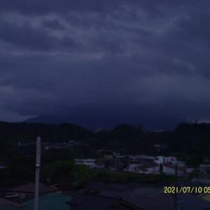 2021年07月10日 朝の桜島