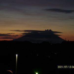 2021年07月13日 朝の桜島