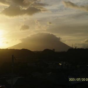 2021年07月20日 朝の桜島