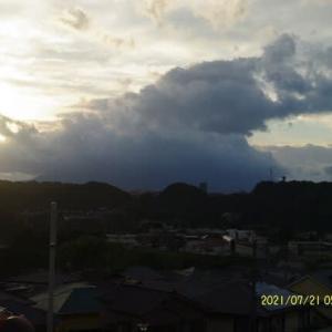 2021年07月21日 朝の桜島