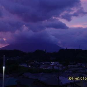 2021年07月22日 朝の桜島