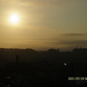 2021年07月29日 朝の桜島