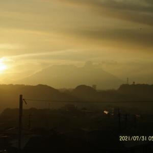 2021年07月31日 朝の桜島