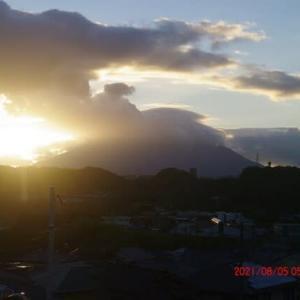 2021年08月05日 朝の桜島