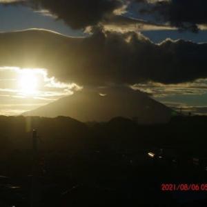 2021年08月06日 朝の桜島