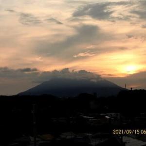 2021年09月15日 朝の桜島