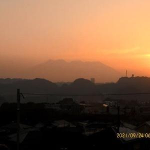 2021年09月24日 朝の桜島