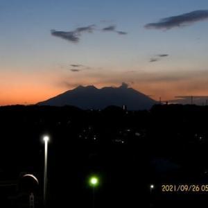 2021年09月26日 朝の桜島