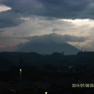 2019年07月08日、朝の桜島