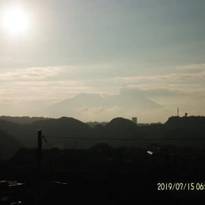 2019年07月15日、朝の桜島