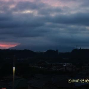 2019年07月23日、朝の桜島