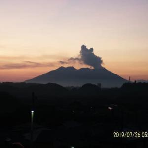 2019年07月26日、朝の桜島