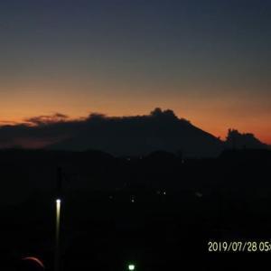 2019年07月28日、朝の桜島