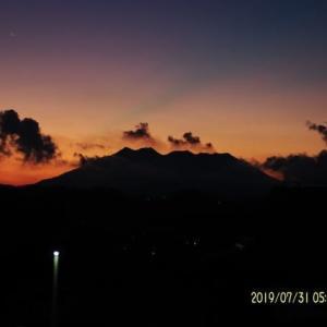 2019年07月31日、朝の桜島