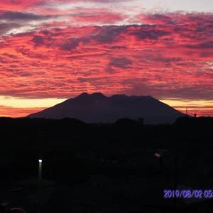 2019年08月02日、朝の桜島
