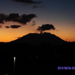 2019年08月04日、朝の桜島