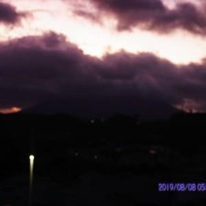 2019年08月08日、朝の桜島