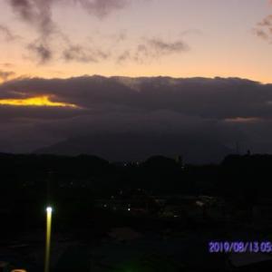 2019年08月13日、朝の桜島