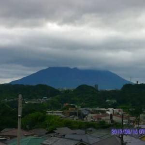 2019年08月14日、朝の桜島