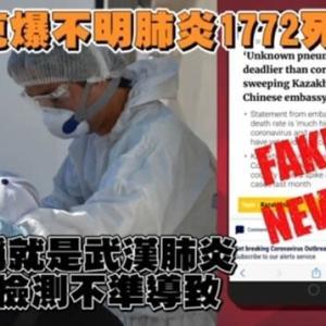 陰謀?・・・新型コロナと異なる肺炎 急速に症状悪化し死亡。カザフスタン保健省:偽のニュース!