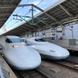 """1年前の今日。 """"仕事帰りに新幹線で大阪へ。"""""""