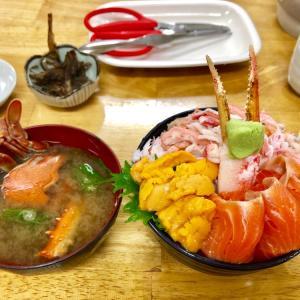小樽・三角市場で、てんこもりの海鮮丼!/ 雪解けの北海道旅行-20