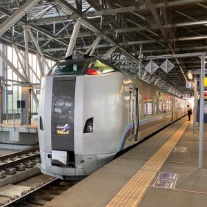 「はまなす」編成の特急宗谷に乗り、日本最北端の駅へ。/最北の離島を目指す北海道旅行-6