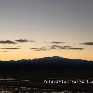 朝の景色 白山