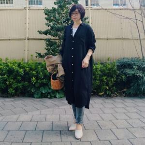 【小柄アラフォーコーデ】シャツワンピース×デニムの大人カジュアルコーデ
