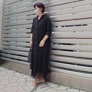 【小柄アラフォーコーデ】梅雨時期のオールブラックコーデ