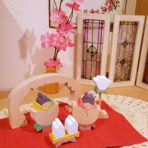 スタバの桜シリーズと、我が家のお雛様