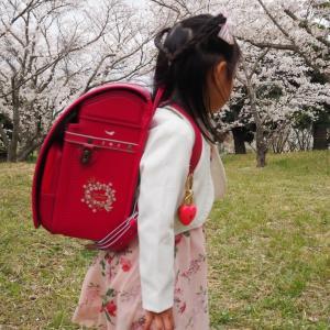 桜とランドセル