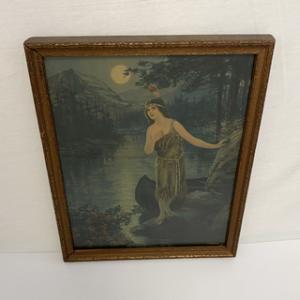古い絵 Indian Maiden Princess Weeko