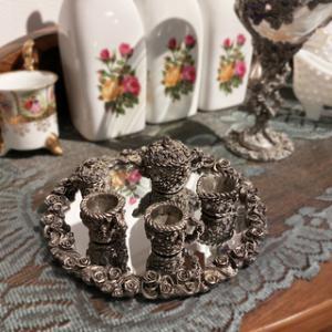 Miniature Pewter Tea Set