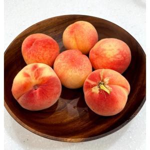 記念の桃の木、桃収穫♡