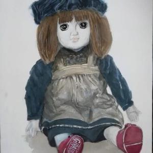 描き直しの人形です